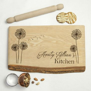 Personalised Baker's Kitchen Rustic Chopping Board